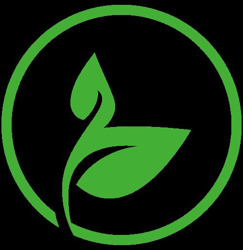圆形绿叶logo图标素材矢量logo