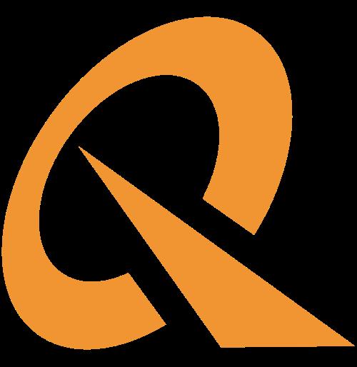 橙色抽象字母Q矢量logo素材矢量logo