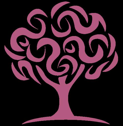 紫色大树矢量logo素材矢量logo