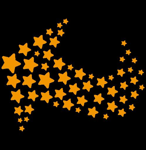 橙色星星箭头矢量标识矢量logo
