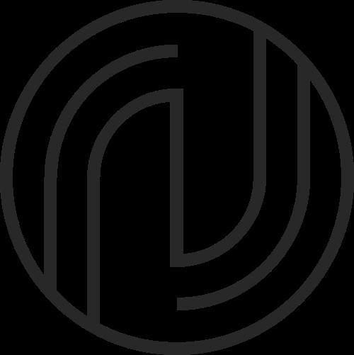 圆形线条字母J图标logo