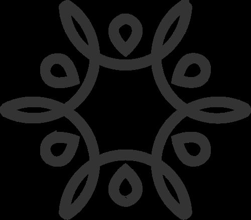 单色线条花瓣图案logo