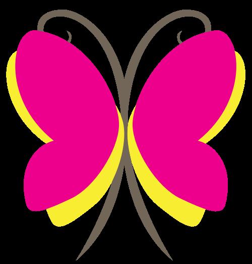 粉色蝴蝶矢量图标矢量logo