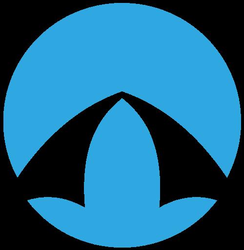蓝色抽象圆形图标logo