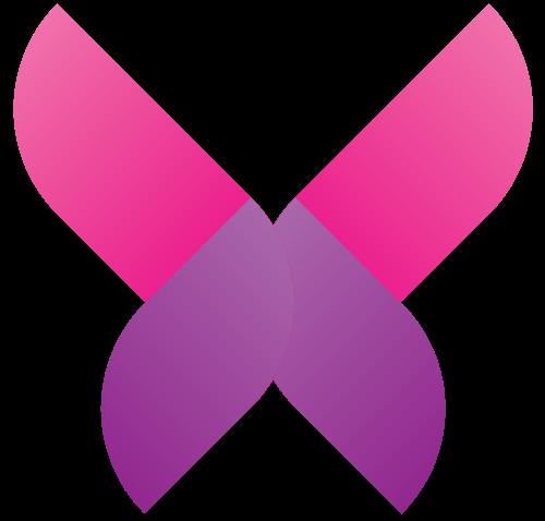 粉色抽象蝴蝶矢量标识矢量logo