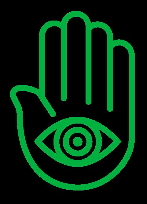绿色印度瑜伽手掌矢量标志矢量logo