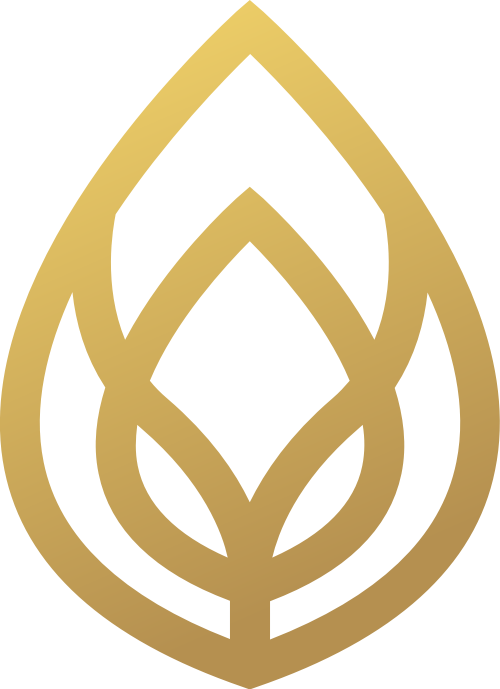 金色线条树叶矢量logo图案矢量logo