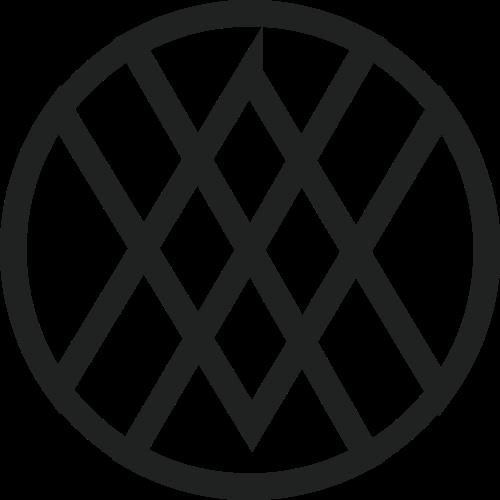 圆形字母VW矢量logo图标