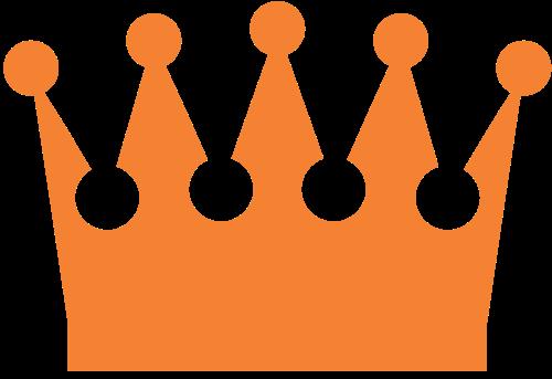 金色皇冠矢量logo图标