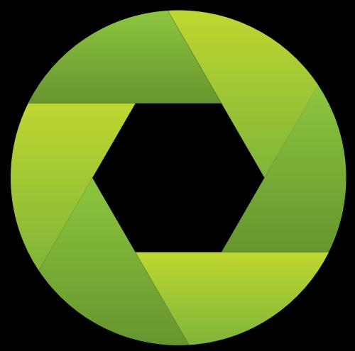 绿色相机镜头矢量图标矢量logo