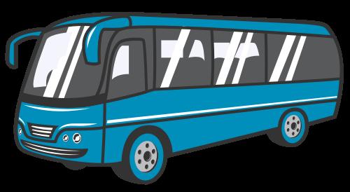旅游大巴矢量logo素材
