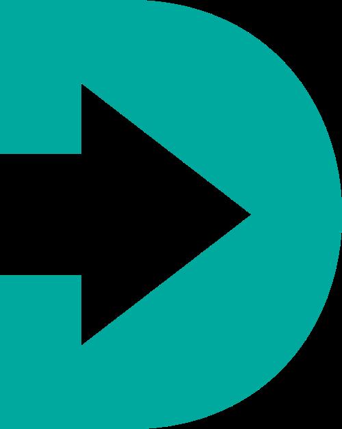 绿色箭头字母D标志素材矢量logo