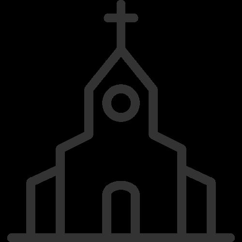 婚礼教堂矢量标识矢量logo