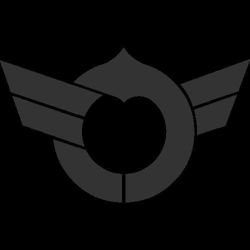 飞行翅膀相关抽象矢量图标矢量logo