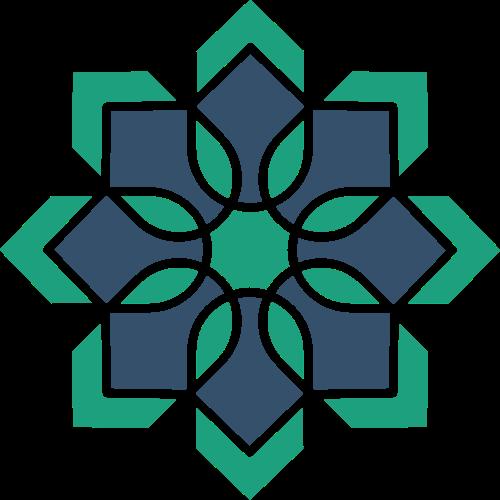 绿色花朵图案矢量logo
