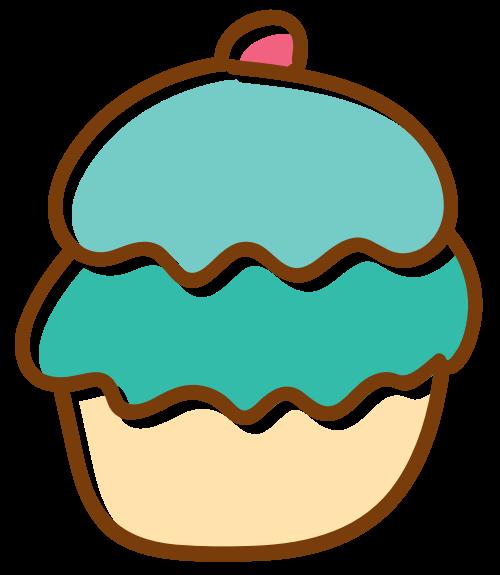 绿色蛋糕甜品矢量图标logo