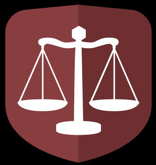 天平公正法律相关矢量logo图标