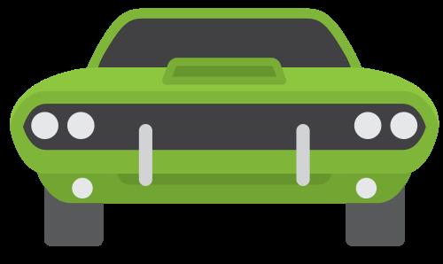 绿色老式肌肉赛车图标