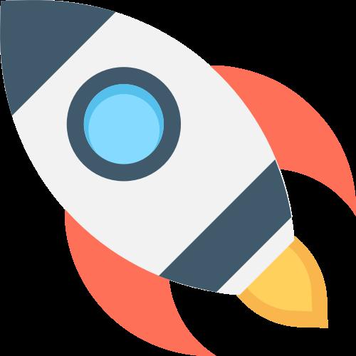 卡通火箭创新创业相关logo素材矢量logo