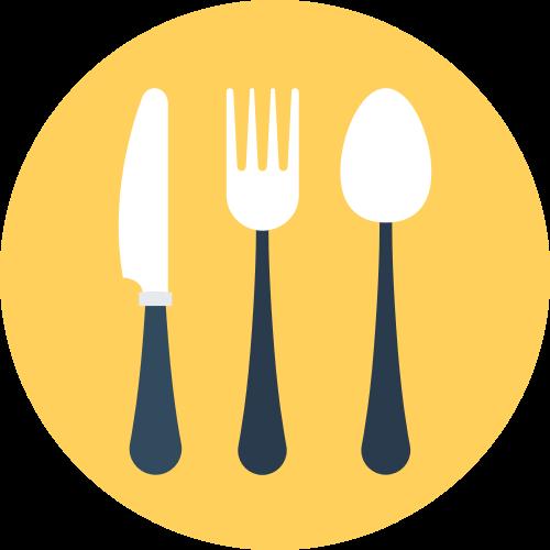 黄色餐具餐厅矢量logo素材