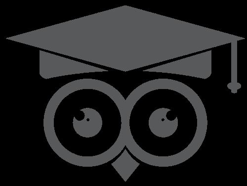 猫头鹰毕业礼帽矢量图标矢量logo