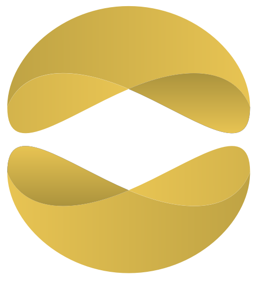 3D波浪几何半圆图标素材矢量logo