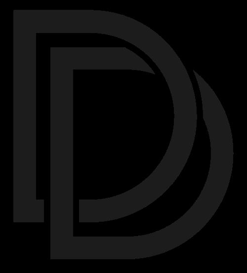 重叠字母D矢量logo图标矢量logo