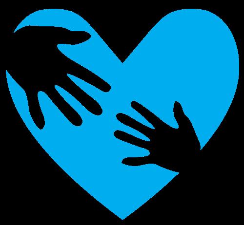 蓝色心形手掌矢量图片素材矢量logo