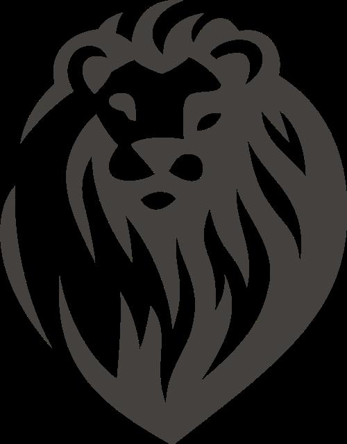 狮子矢量图标素材