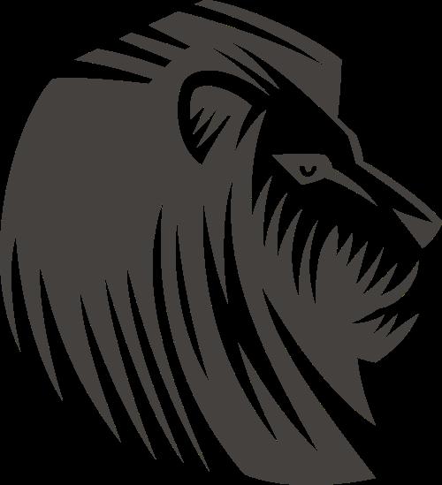 狮子矢量图标素材矢量logo