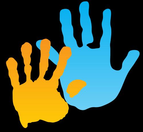 两个手掌印logo图片素材矢量logo