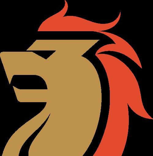 狮子侧面头像logo素材