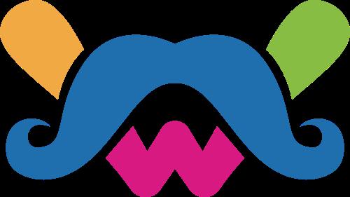 胡子元素矢量图标矢量logo