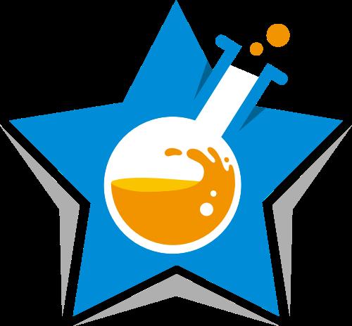 星星化学实验矢量logo素材矢量logo