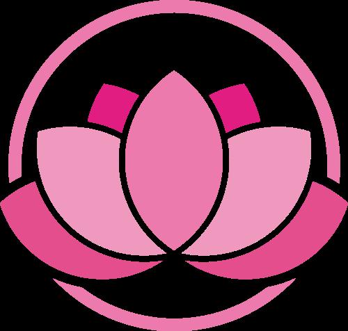 粉色养生美容莲花矢量图标素材矢量logo