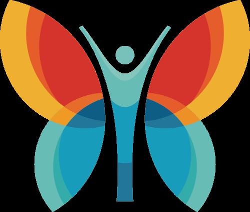 蝴蝶女性元素矢量标识矢量logo