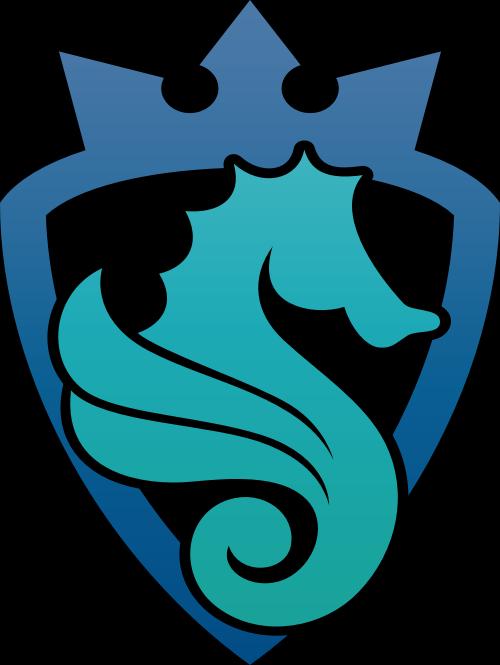 海马皇冠徽章logo矢量元素矢量logo
