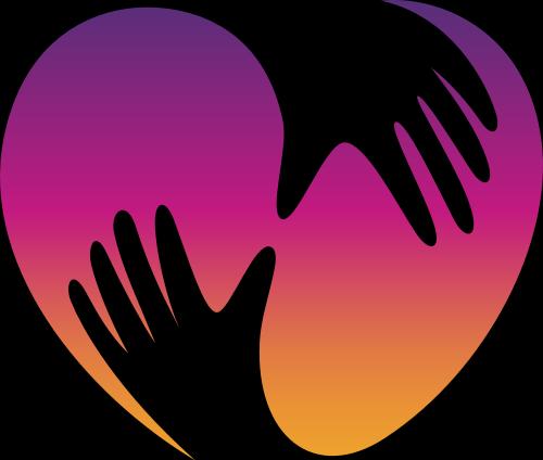爱心双手拥抱元素标志图片矢量logo