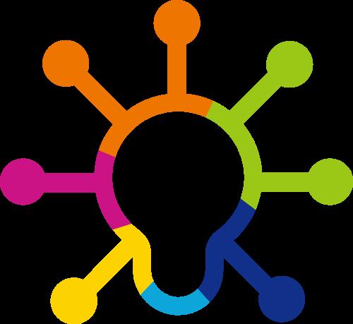 彩色灯泡创意想法矢量logo图标矢量logo