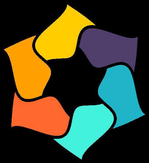 彩色抽象几何图形矢量标志矢量logo
