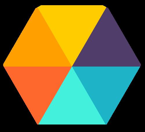彩色六边形矢量图标素材矢量logo