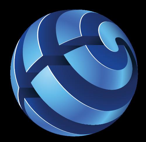 蓝色3d立体球形矢量图标矢量logo