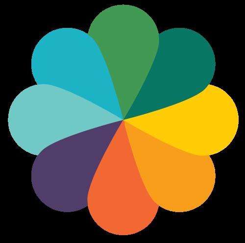 彩色圆形花瓣矢量logo素材图片