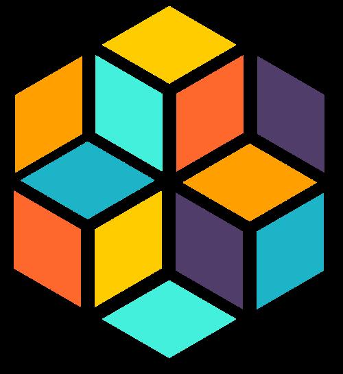 立体几何蜂窝形状矢量图标矢量logo