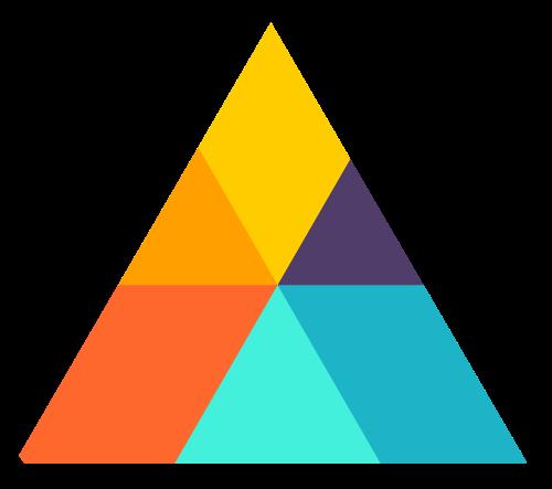 彩色三角形矢量logo图标素材矢量logo