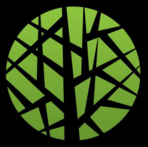 绿色圆形竹叶矢量图标矢量logo