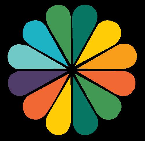 彩色橙子花瓣矢量图标矢量logo