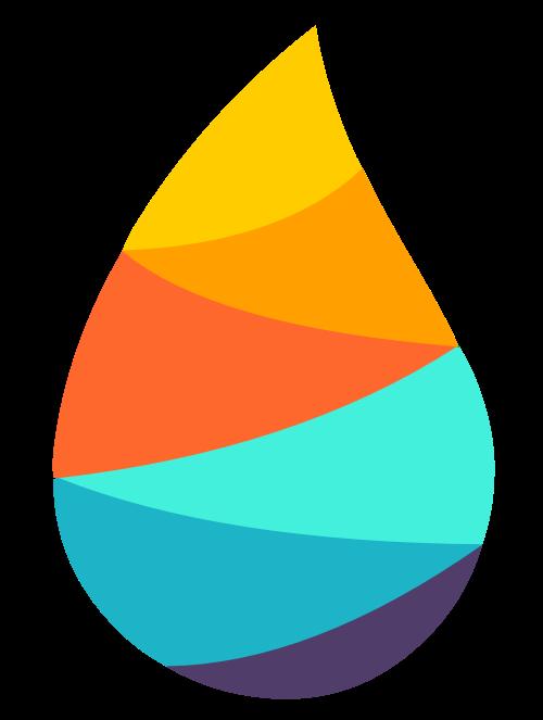 彩色水滴形状矢量logo标志素材矢量logo