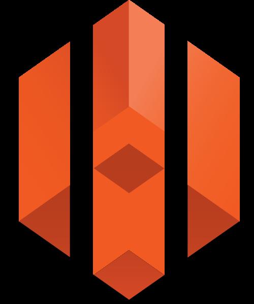 橙色3d立柱矢量logo图标矢量logo