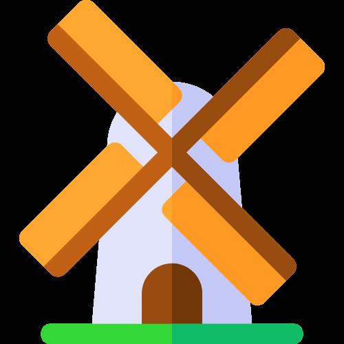 卡通风车矢量logo设计图标矢量logo